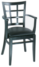 Lattice Back Arm Chair - Alston