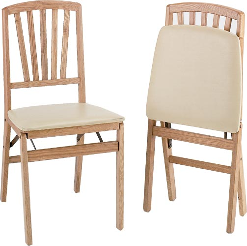 Solid Wood Folding Dining Chair by Alston