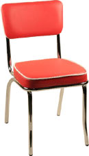 Alston Retro Chrome Dining Chair with Vinyl Seat & Back 17 inchWx21 inchDx35 inchH