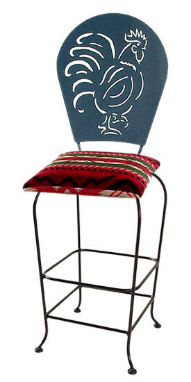 Rooster Silhouette Swivel Bar Stool