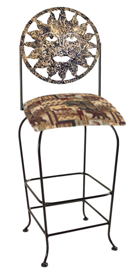 Celestial Theme Sun Silhouette Swivel Bar Stool