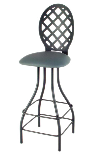 Lattice 43 Inch Back Swivel Stool