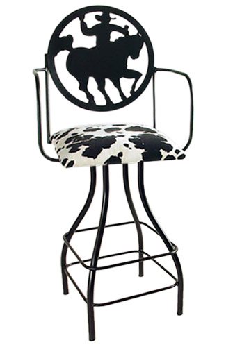 Silhouette 24 Inch Swivel Bar Stool