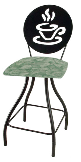 Coffee Cup Silhouette Swivel Bar Stool