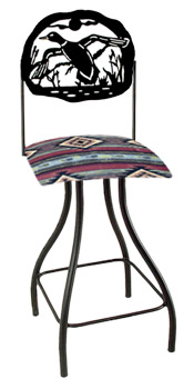 Lodge Theme Duck Silhouette Swivel Bar Stool