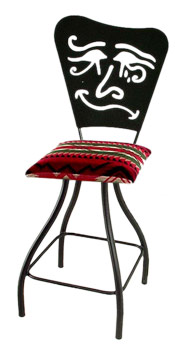 Mardi Gras Silhouette Swivel Bar Stool