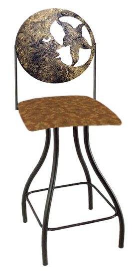 Celestial Theme Moon Silhouette Swivel Bar Stool