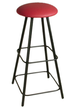 Moderno 36 Inch Straight Leg Backless Swivel Stool