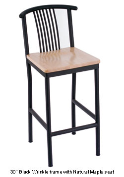 Valencia Spoke Bar Stool with Wood Seat