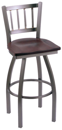 Holland Contessa Stainless Steel Swivel Bar Stool with Vinyl Seat