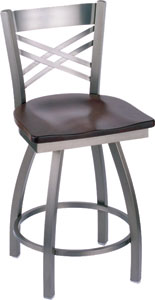 Holland Catalina Stainless Steel Swivel Bar Stool with Vinyl Seat