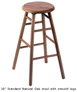 Holland Deluxe Oak Round Bar Stool