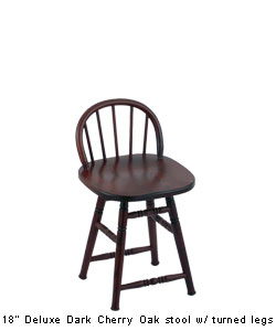 Holland Deluxe Maple Low Spindle Back Bar Stool