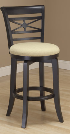 Hillsdale Furniture Kingstown 30 Seat Height Bar Stool w/ Fabric Seat, Black