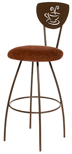 TC-KST2020, Mocha Swivel Bar Stool by Trica