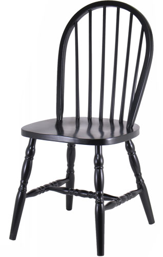 Black Windsor Chair w/ Curved Legs
