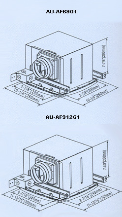 Bathroom Ceiling Mounted Ventilation Fan by AUPU,AU-AF69G1,AU-AF912G1 Shown