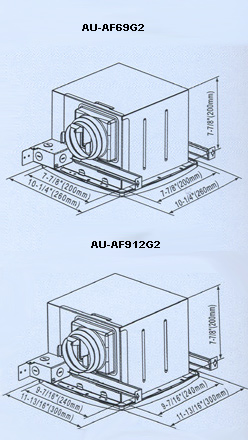 Bathroom Ceiling Mounted Ventilation Fan by AUPU,AU-AF69G2,AU-AF912G2 Shown