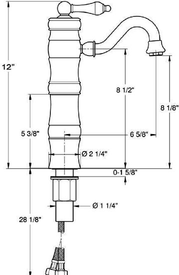 Faucet Specifications by Whitehaus