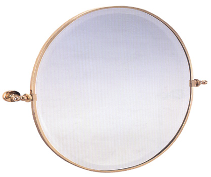 Framed Round Bevel Bathroom Mirror - Afina
