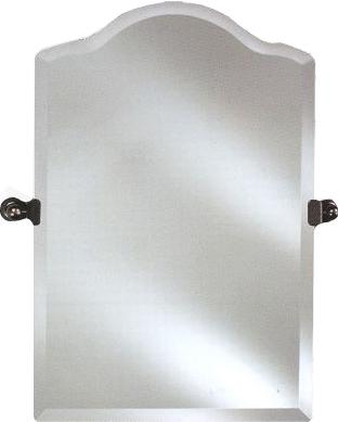 Frameless Bathroom Mirrors on Radiance 24 Quarterinchw Frameless Scallop Top Mirror Bathroom Mirrors
