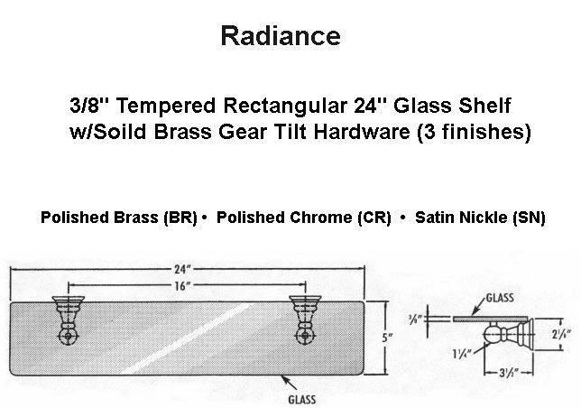 Glass Shelf Specs