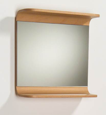 Aeri Rectangular Wood Mirror W/Integral Shelf