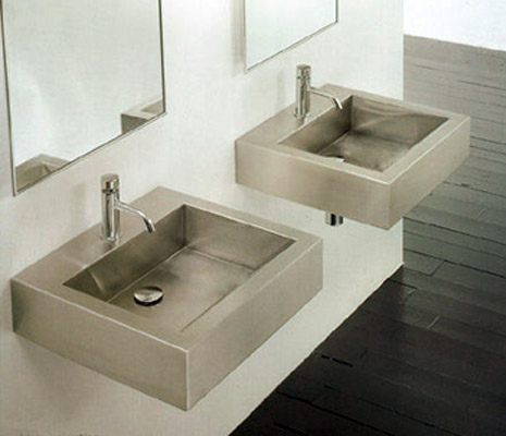 Stainless Steel Square Vessel Bathroom Sink