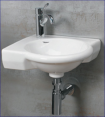 Corner Wall Mount Bathroom Sink by Whitehaus