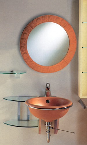 New Generation Large Terra Cotta Drop-in Basin By Whitehaus