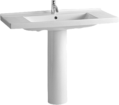 Tubular Pedestal Bathroom Basins