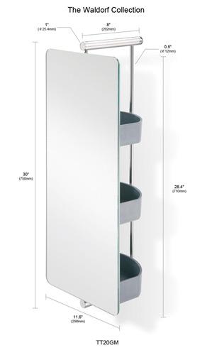 Empire waldorf swivel mirror with for Oval swivel bathroom mirror