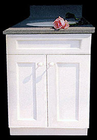 "24"" English Beaded Cottage Style Vanity"