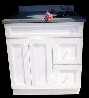 "36"" English Beaded Cottage Style Vanity"