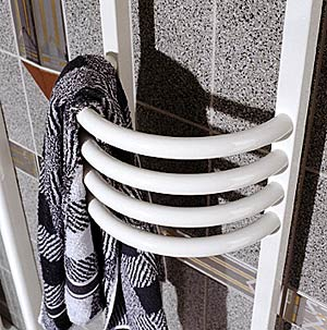 Zehnder art deco towel radiator