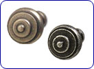 Modern steel knobs by Hafele