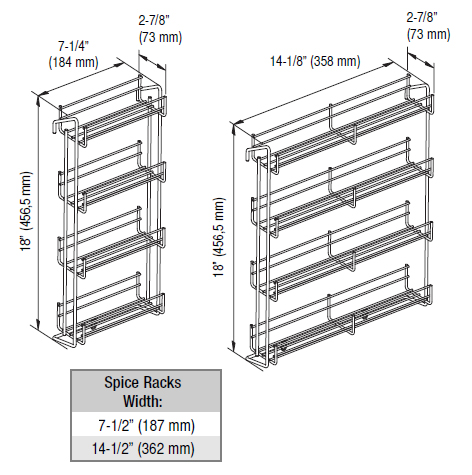 Vauth Sagel Door Mounted Spice Racks