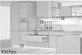 kitchen lighting layout