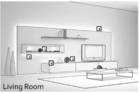 living room lighting layout