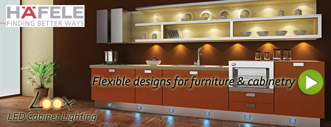 Hafele Loox LED Cabinet Lighting - Cabinet Lighting - Hafele LED Cabinet & Furniture Lighting