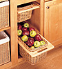 Wicker Pull-Out Baskets