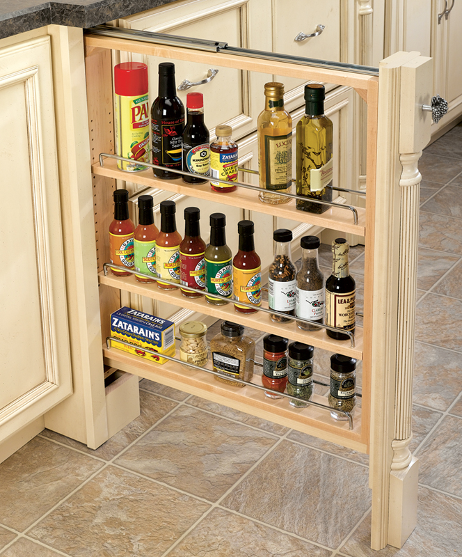 Inspiration Kitchen Rev A Shelf 3 Inch Wide Wood Base Cabinet Filler W Full Extension Cliqstudios 6