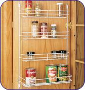 Rev-A-Shelf 7-1/8 inch W Door Mount Spice Rack, White