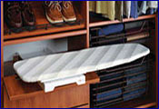 built in ironing centers: wall mount ironing centers, fold away ironing boards, built in ironing boards, free standing ironing boards, ironing board accessories