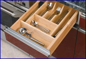 drawer inserts: by feeny & rev-a-shelf, customized drawer inserts by custom inserts
