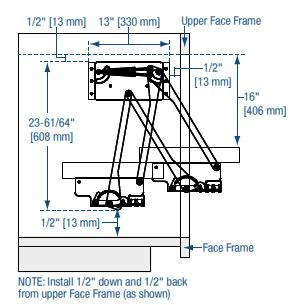 Knape & Vogt Appliance and Kitchen Mixer Lift | KitchenSource.com