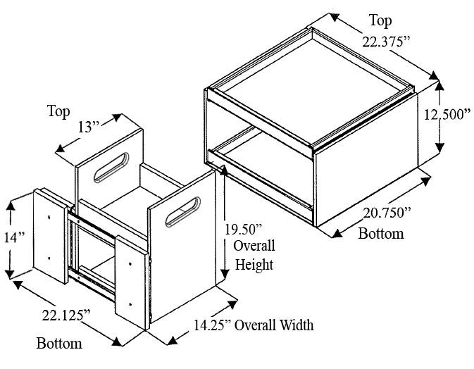 Kitchenmate Blind Corner Cabinet Organizer By Omega