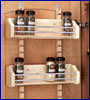 spice racks and door organizers