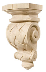 Hand carved corbel- Basket Weave by Hafele