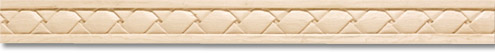"Hand carved moulding- basket weave motif (96"") by Hafele"